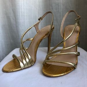 NWT - Gold strappy VINCE CAMUTO heels
